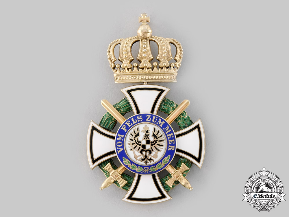 Prussia, Kingdom. A House Order of Hohenzollern, Commander's Cross with Swords, c.1914