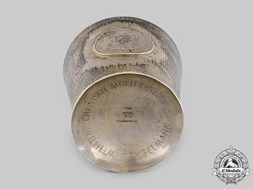 Germany, SS. A 1933 Silver Cup to SS-Sturmbannführer Wilhelm Tengelmann, by Ferdinand Richard Wilm