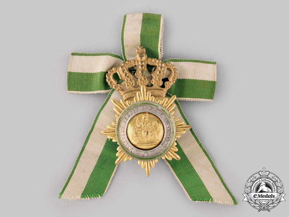 Saxony, Kingdom. A Veteran's Military Association Members Badge, c.1900