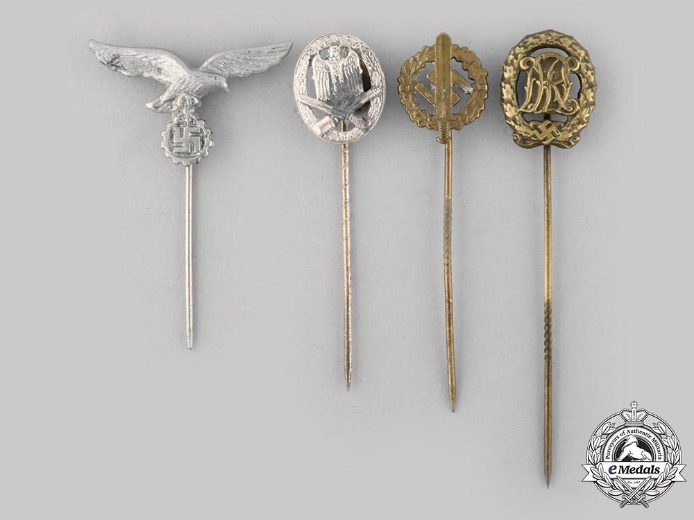 Germany, Third Reich. A Lot of Third Reich Period Stick Pins