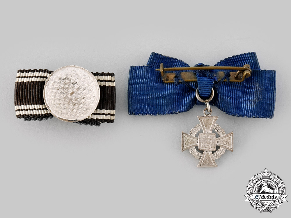Germany, Third Reich. A Pair of Miniature Long Service Awards