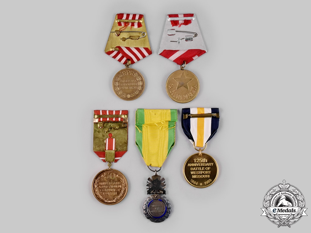 Bulgaria, France, Romania, United States. Five Medals