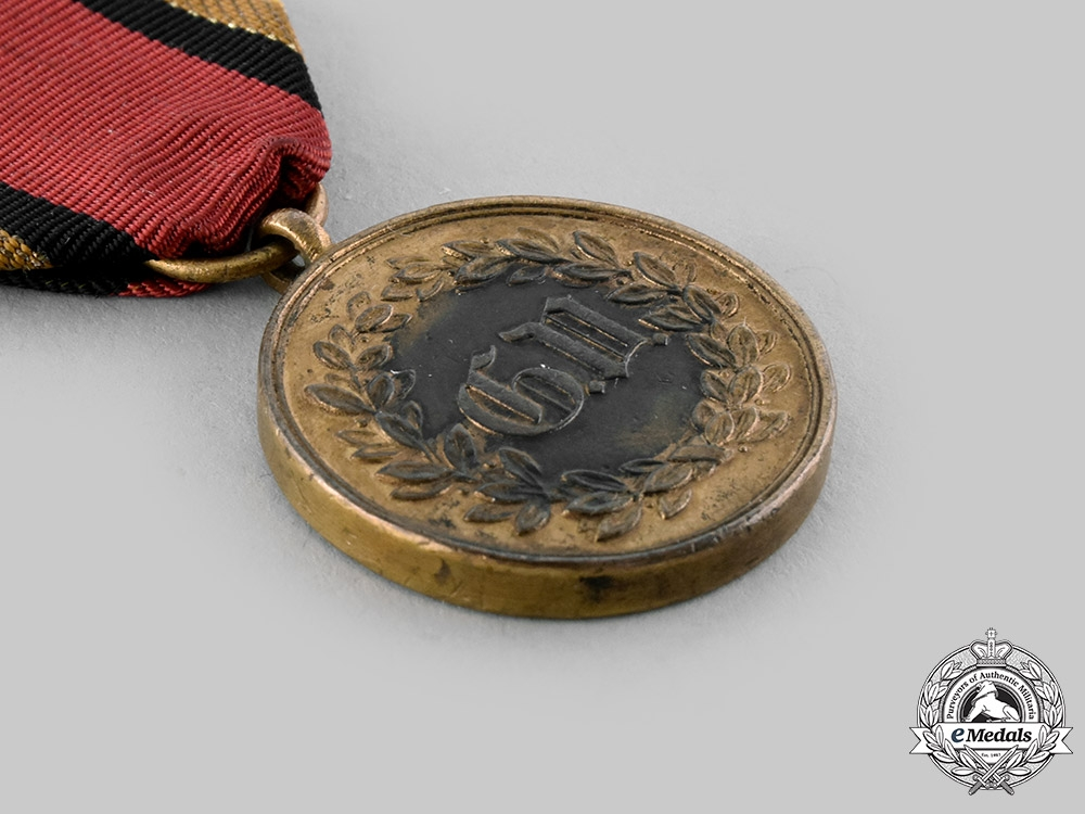 Waldeck-Pyrmont, Principality. A Field Campaign Military Medal, c.1862.