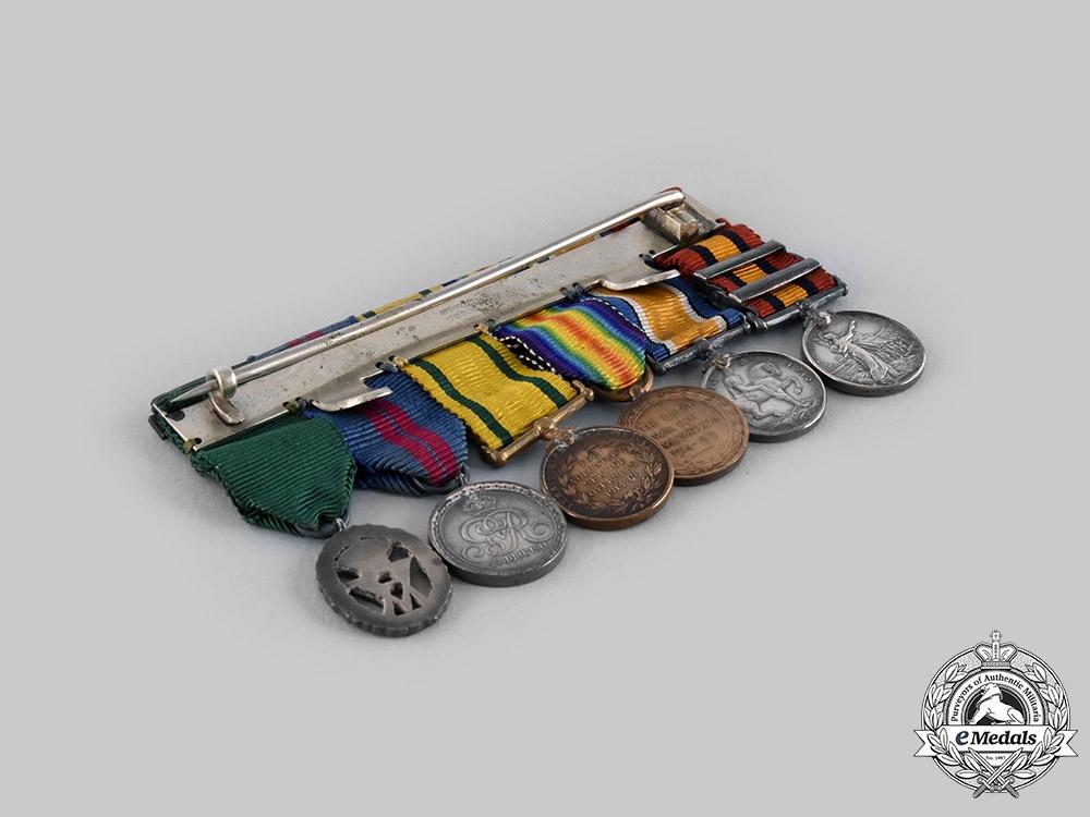 United Kingdom. A Boer War & First War Veteran's Miniature Group of Six