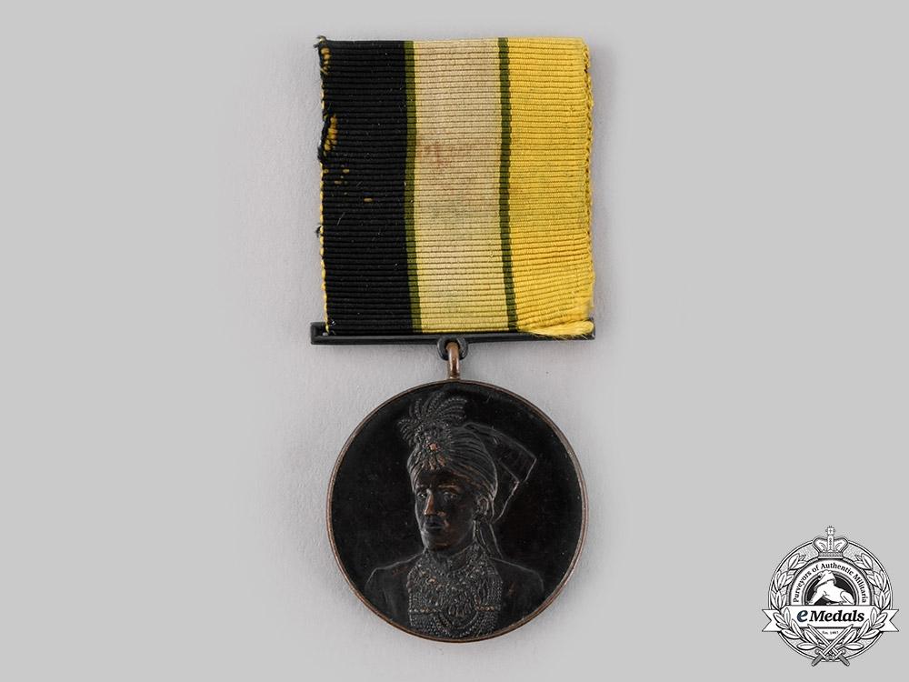 India, Bahawalpur. A Sadiq Muhammad Khan V Installation Medal 1924, III Class Bronze Grade