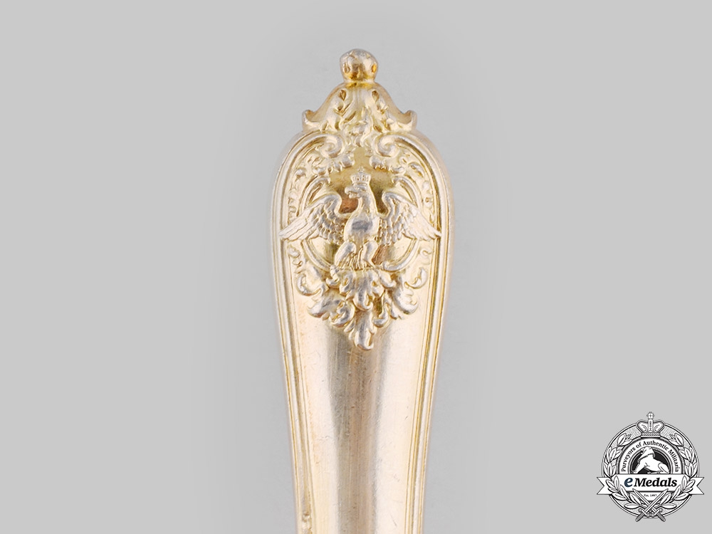 Germany, Imperial. A Silver Hohenzollern Butter Knife, by Sy & Wagner