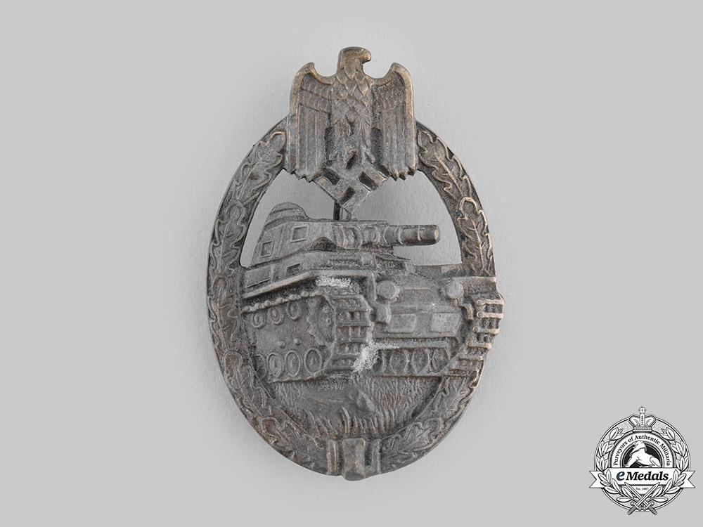 Germany, Wehrmacht. A Panzer Assault Badge, Bronze Grade, by Karl Wurster