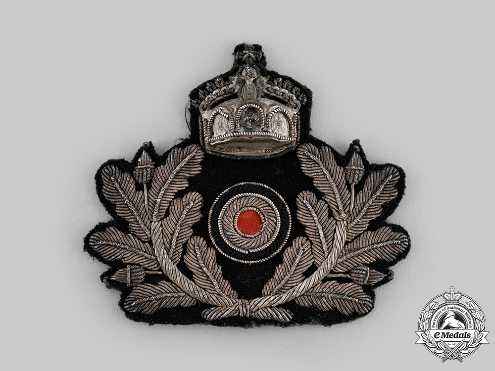 Germany, Imperial. A Naval Officer's Visor Cap Insignia