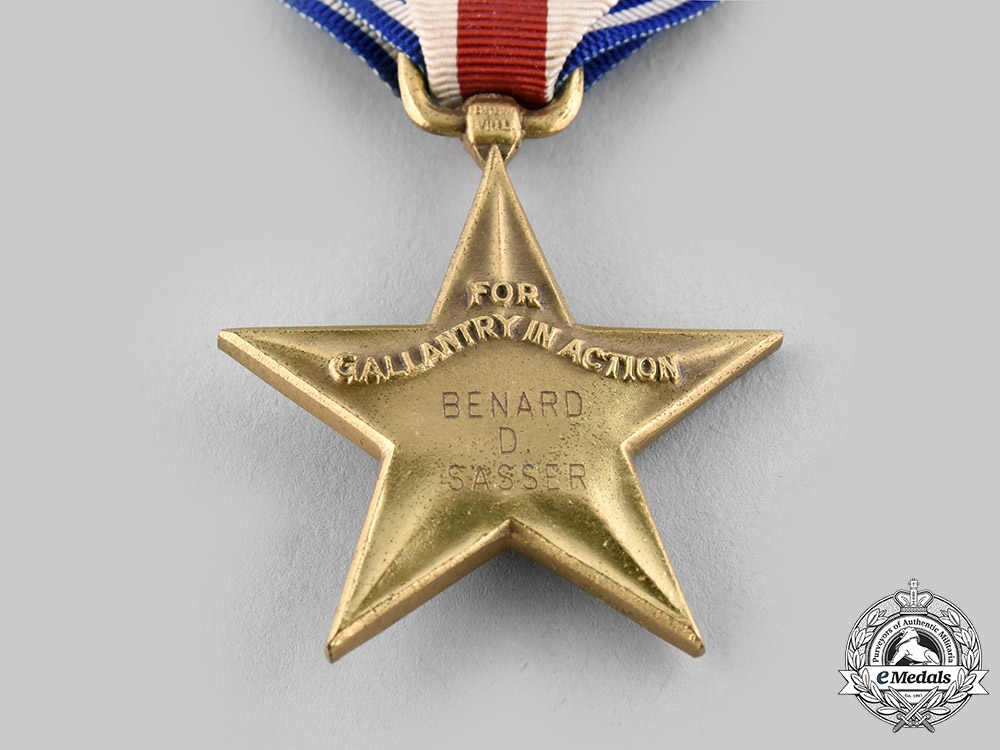 United States. A Silver Star & Purple Heart, 87th Infantry Division