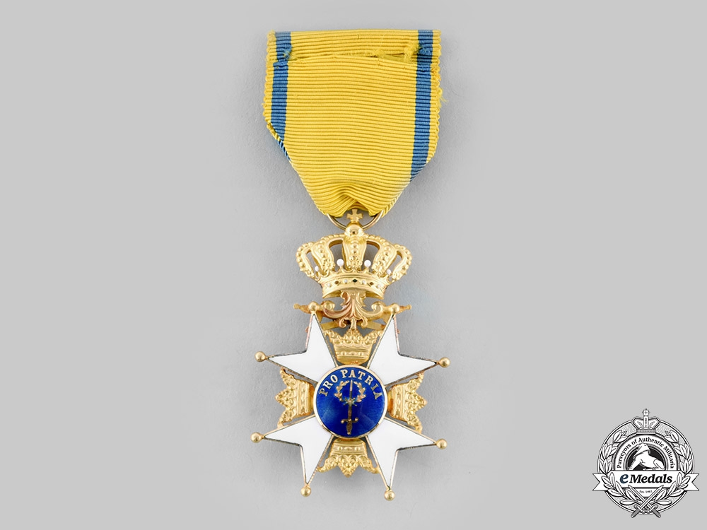 Sweden, Kingdom. An Order of the Sword, I Class Knight in Gold, by C.F Carlman, c.1960