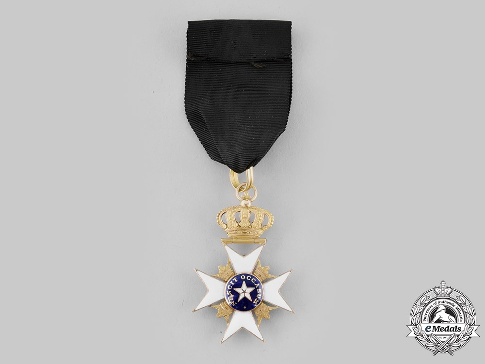 Sweden, Kingdom. An Order of the North Star, I Class Knight in Gold, c. 1840