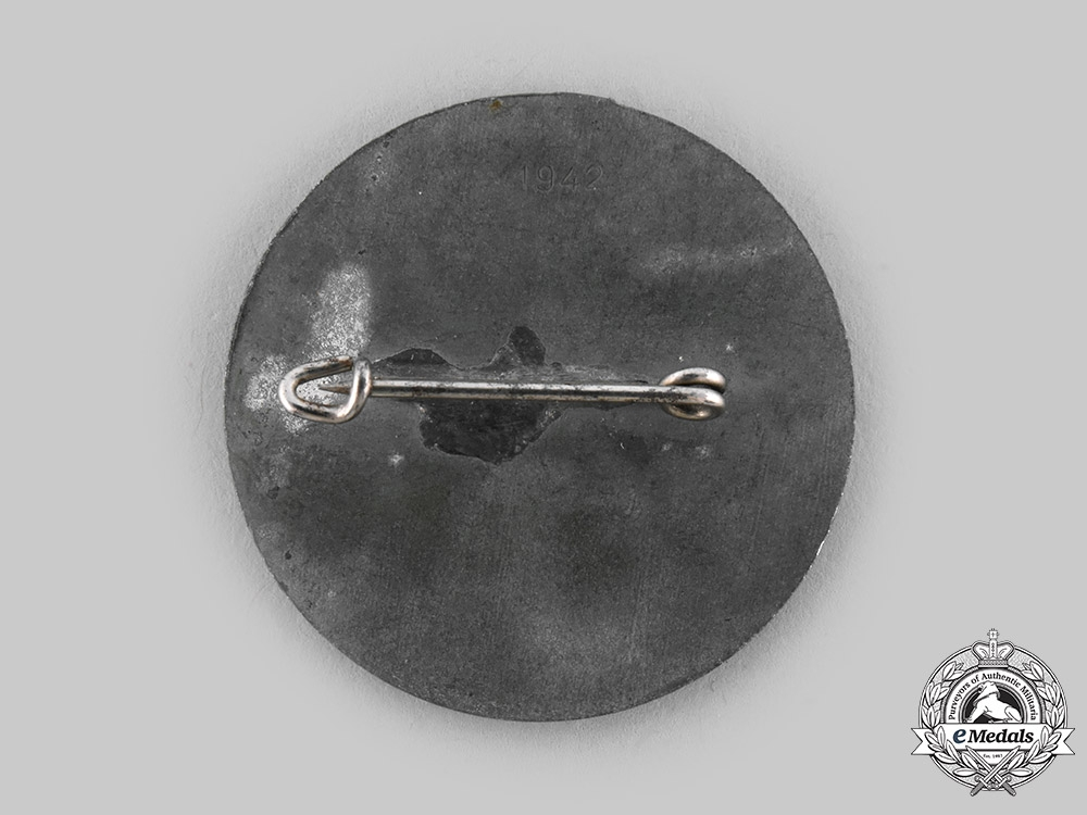 Germany, NSB. A Utrecht Weerbaarheidsafdeling March Badge