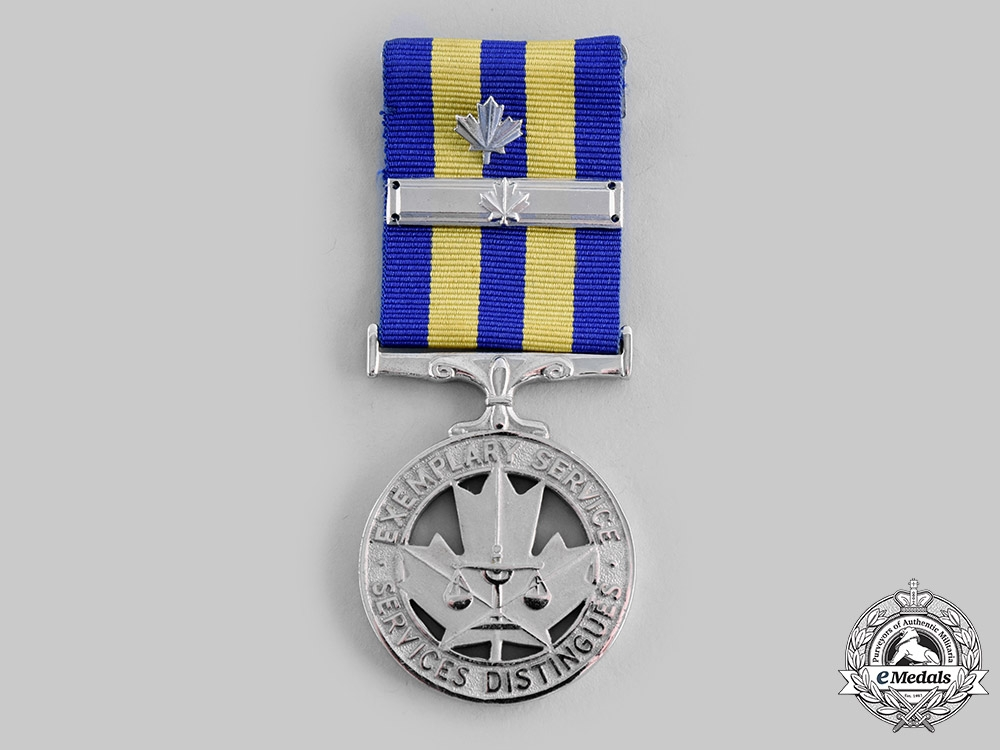 Canada, Commonwealth. A Police Exemplary Service Medal