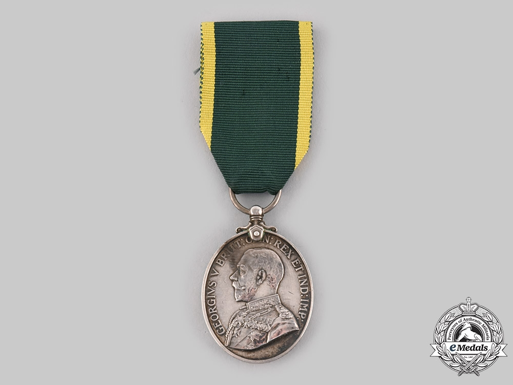 United Kingdom. A Territorial Force Efficiency Medal, Royal Army Medical Corps