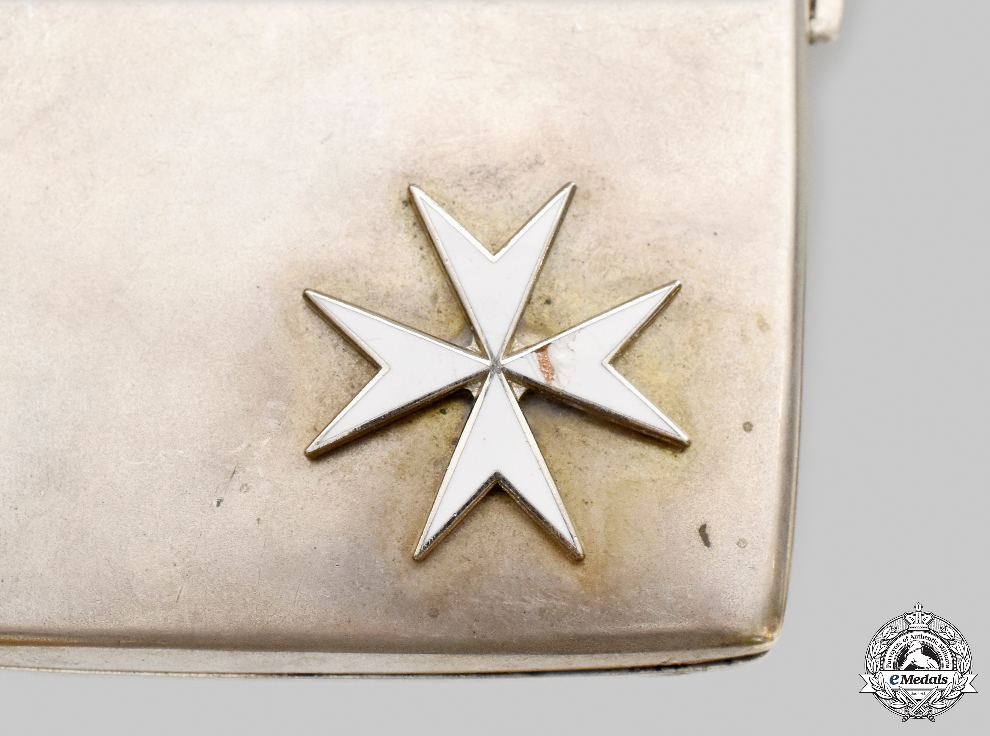 Germany, Imperial. A Silver Cigarette Case Dedicated to an Army Officer