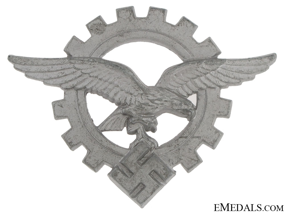 Civilian Technician's Officer's Visor Cap Badge