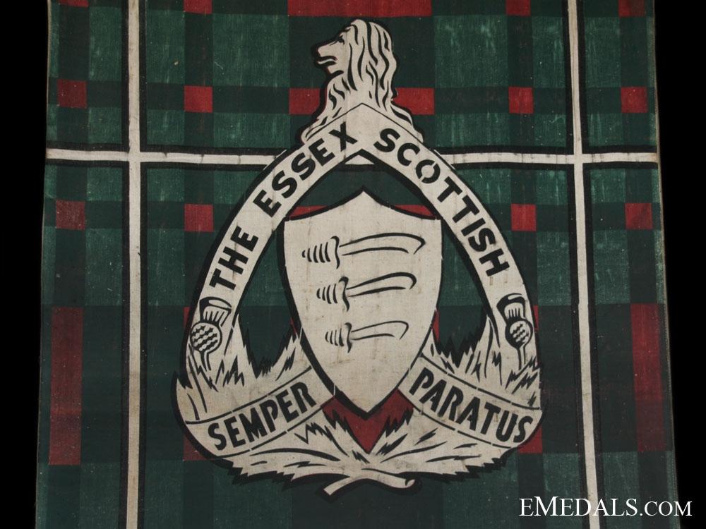 The Essex Scottish Regimental Departure Banner