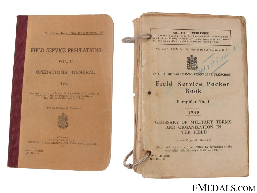 A Set of Documents to a Canadian Military Cross Recipient