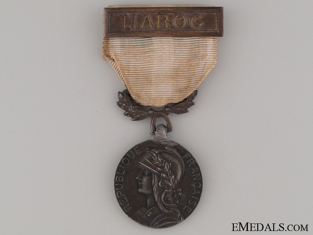 Colonial Medal - MAROC & Named