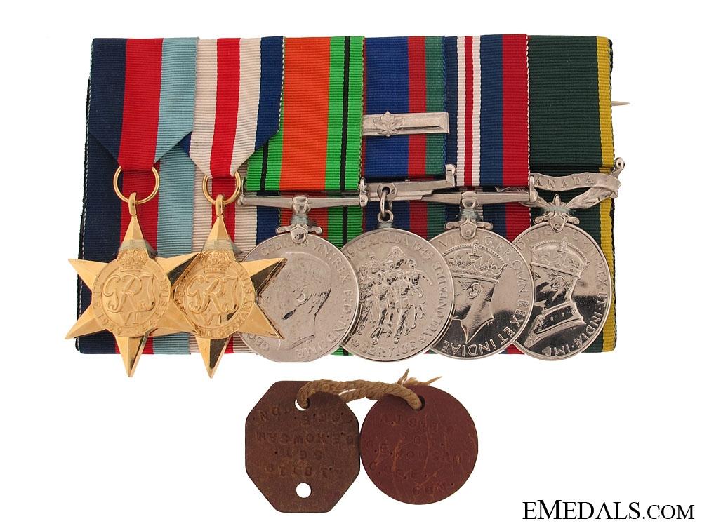 A Second War Group to Sergeant G.E. Howcam
