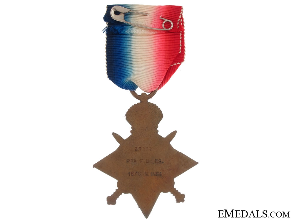 1914-15 Star - 16th Canadian Infantry