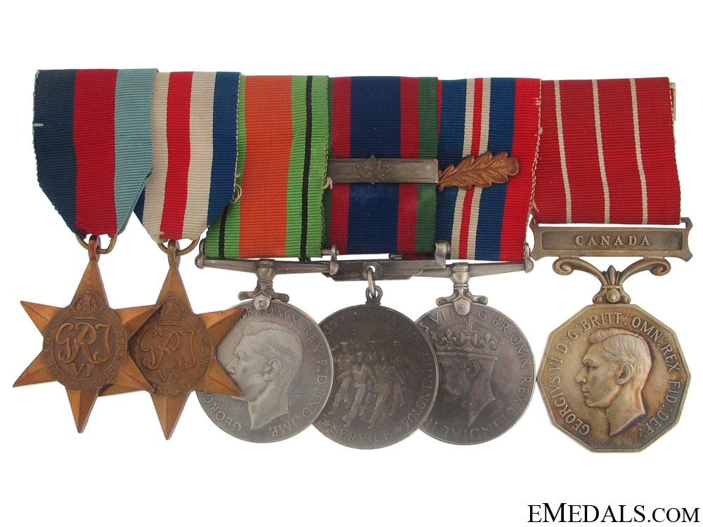 A Second War Canadian Forces Decoration Group