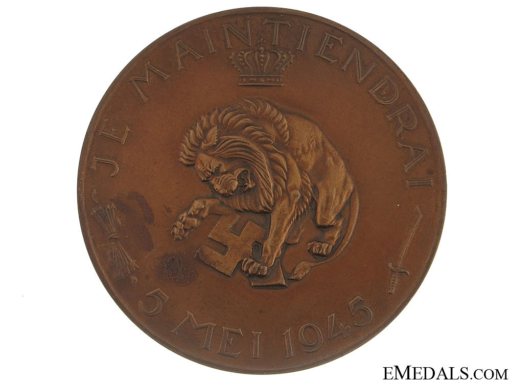 Commemorative Table Medal for Liberation from German Occupation, May 5, 1945