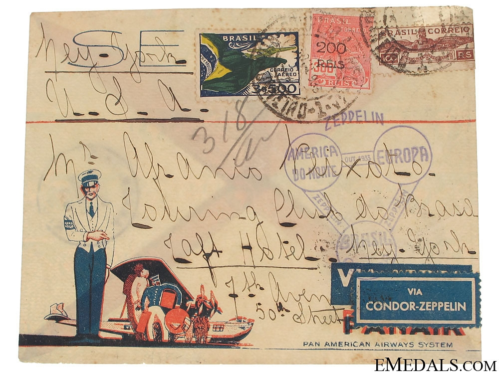Condor Zeppelin Air Mail Envelope 1933
