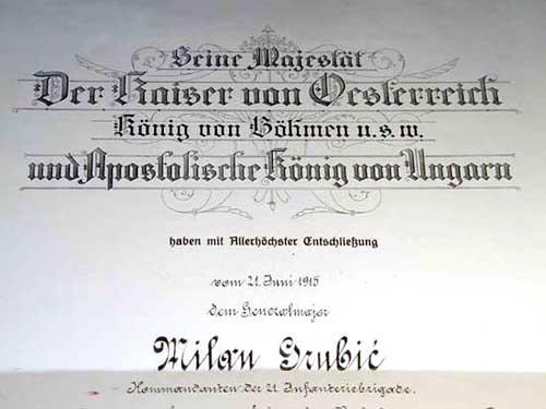 ORDER OF LEOPOLD  MILAN GRUBIC