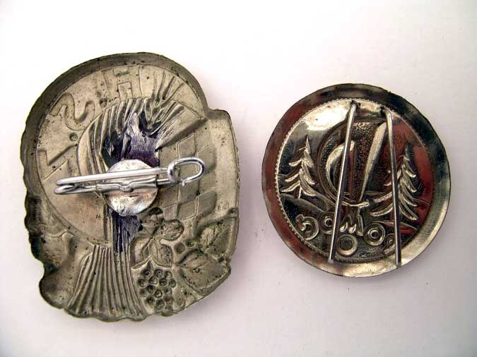 TWO BADGES/TINNIES 1941-45