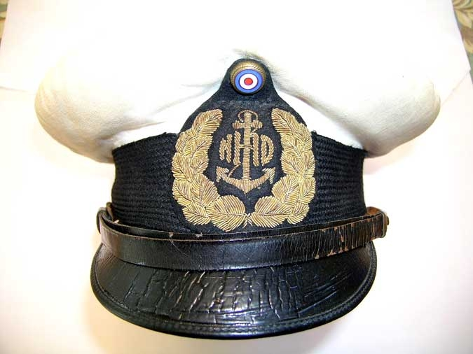NAVY OFFICER VISOR CAP WWII