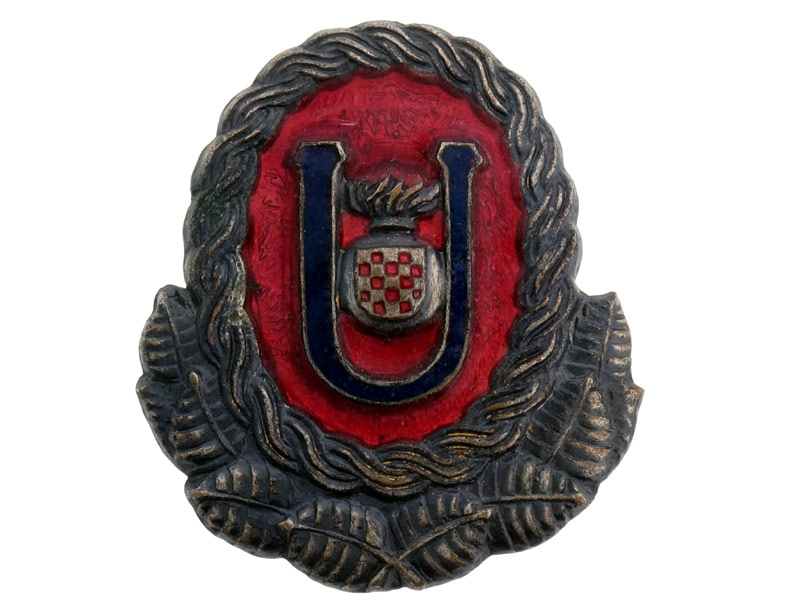 Ustasha Officer's Cap Badge,