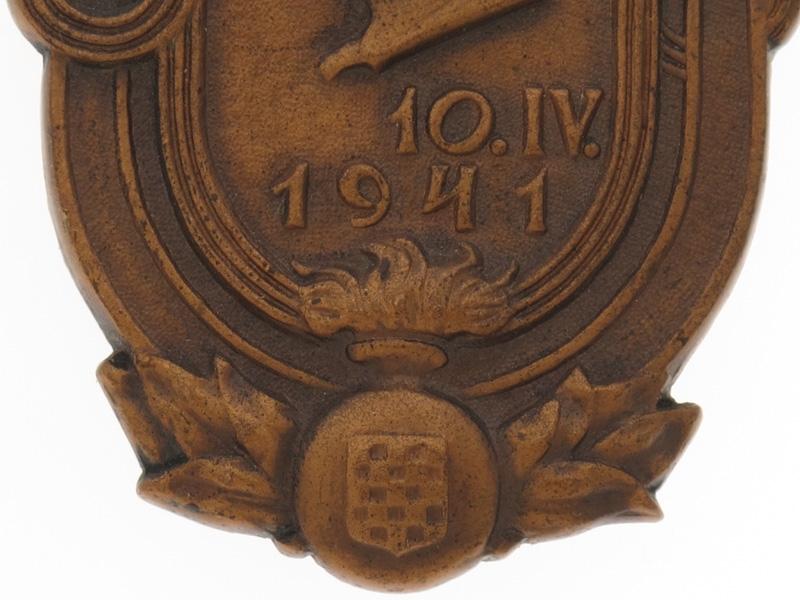 WWII Insignia for Establishment of NDH, 1941