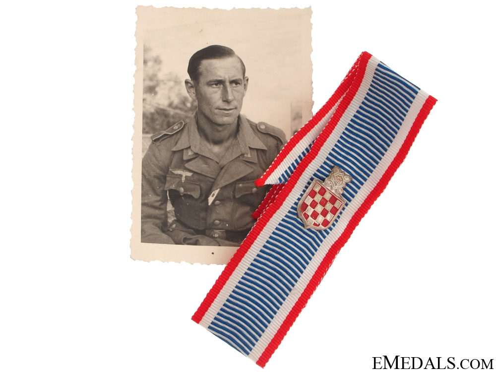 Croatian Legionnaire photo & Award