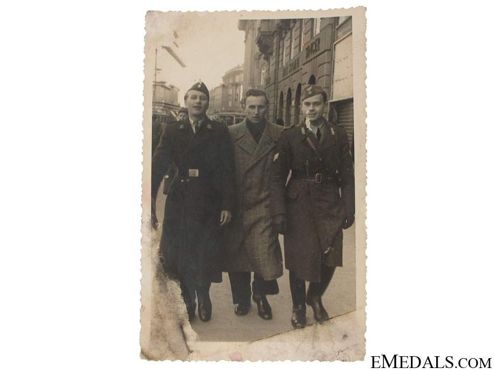 Croatian Photo of Ustasha and Italian NCO's