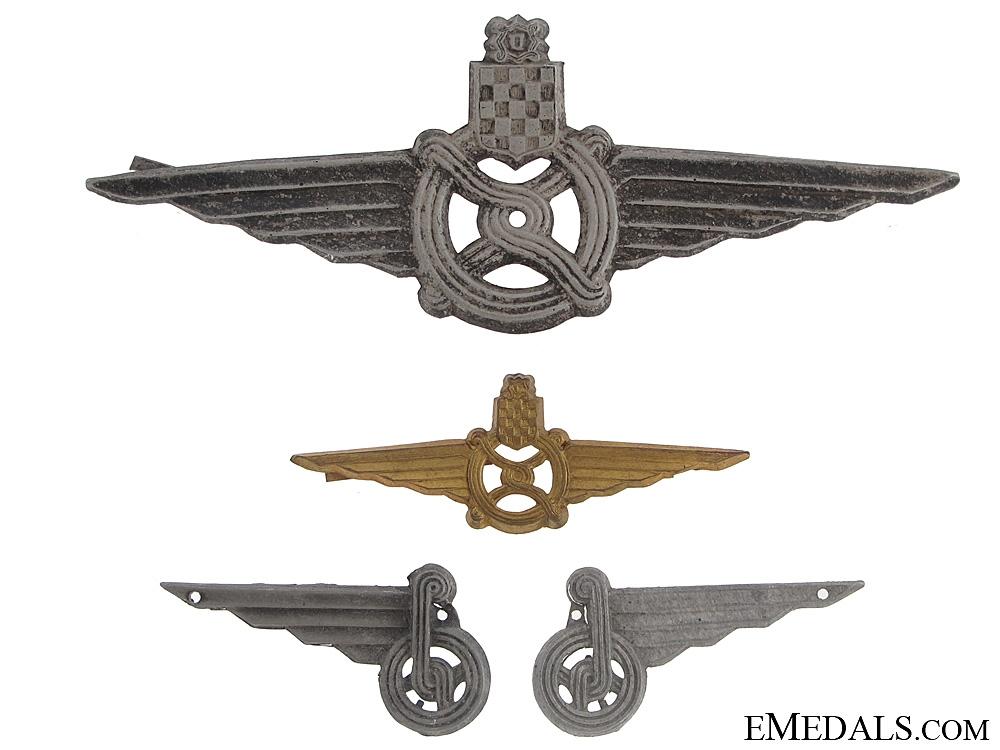 Croatian WWII Railway Badges & Insignia