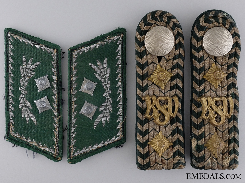 Customs Official Shoulder Boards and Collar Tabs