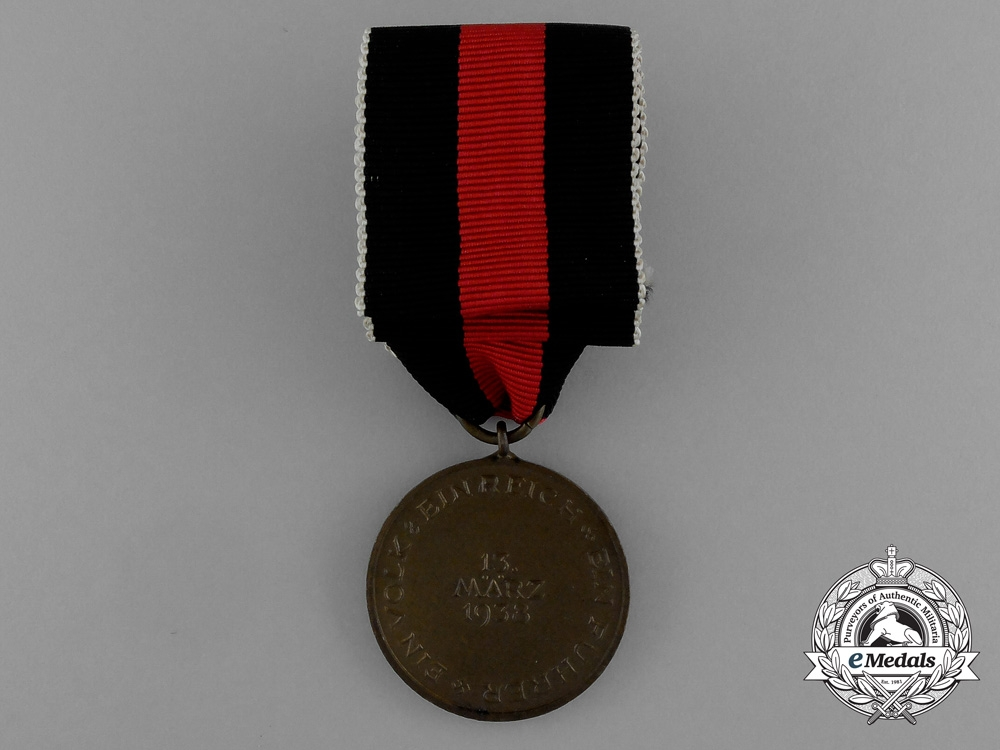 A Commemorative Austrian Anschluss Medal in its Original Packet of Issue