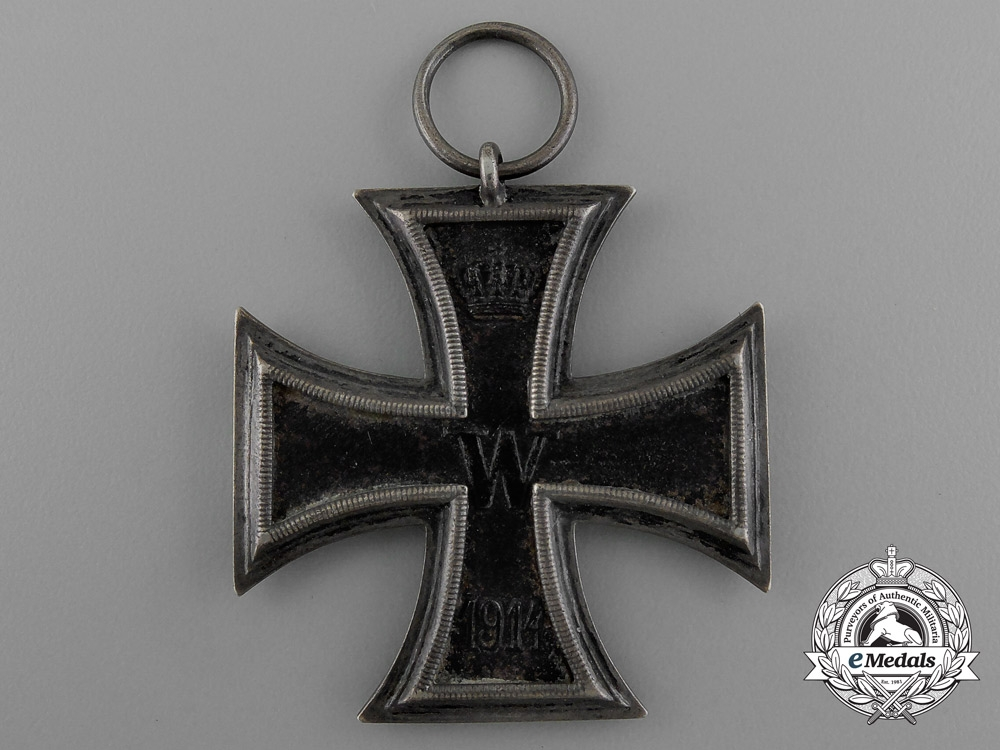 "An Iron Cross 1914 Second Class with Period Original Non-Combatant Ribbon by Unknown Maker ""F"""