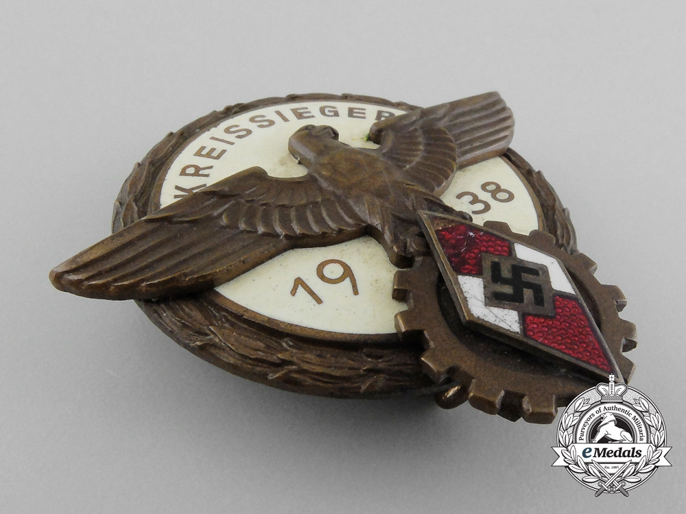 Germany. A 1938 Victors Badge in the National Trade Competition, by G.Brehmer