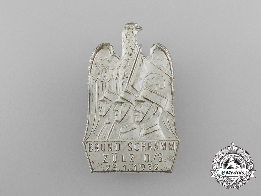 A 1932 SA Martyr Bruno Schramm Remembrance Badge