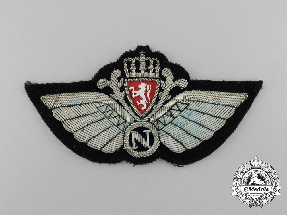 A Royal Norwegian Air Force (RNAF) Navigator (N) Badge