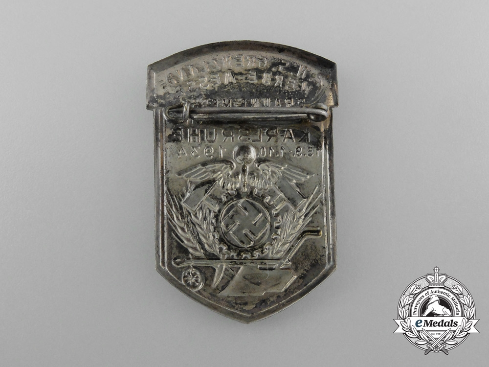 Germany, Third Reich. A 1934 Karlsruhe Border-Counties Braune Messe Badge