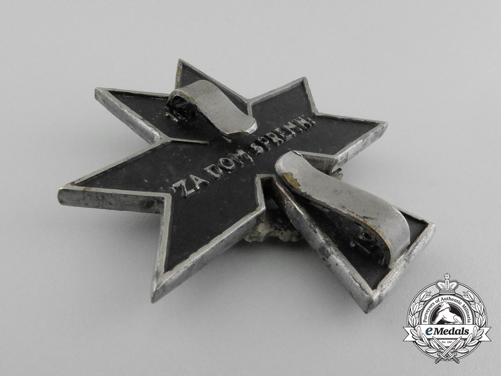 Croatia. An Order of the Iron Trefoil 1941-1945, 2nd Class with Oak Leaves, c.1941