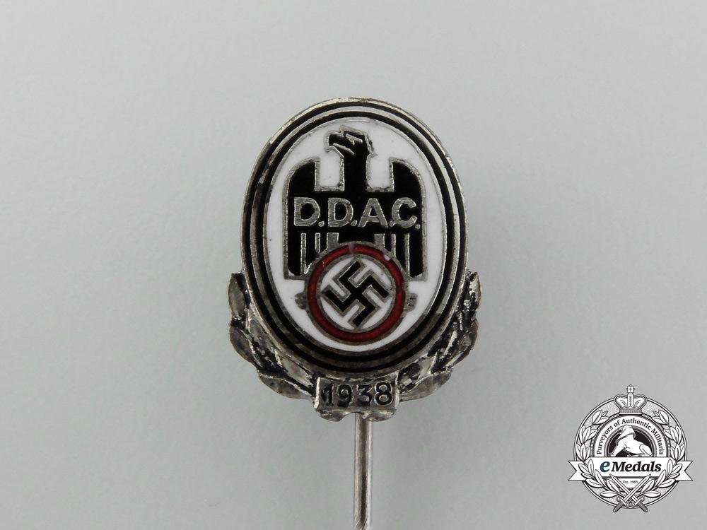A 1938 D.D.A.C German Automobile Club Membership Stick Pin