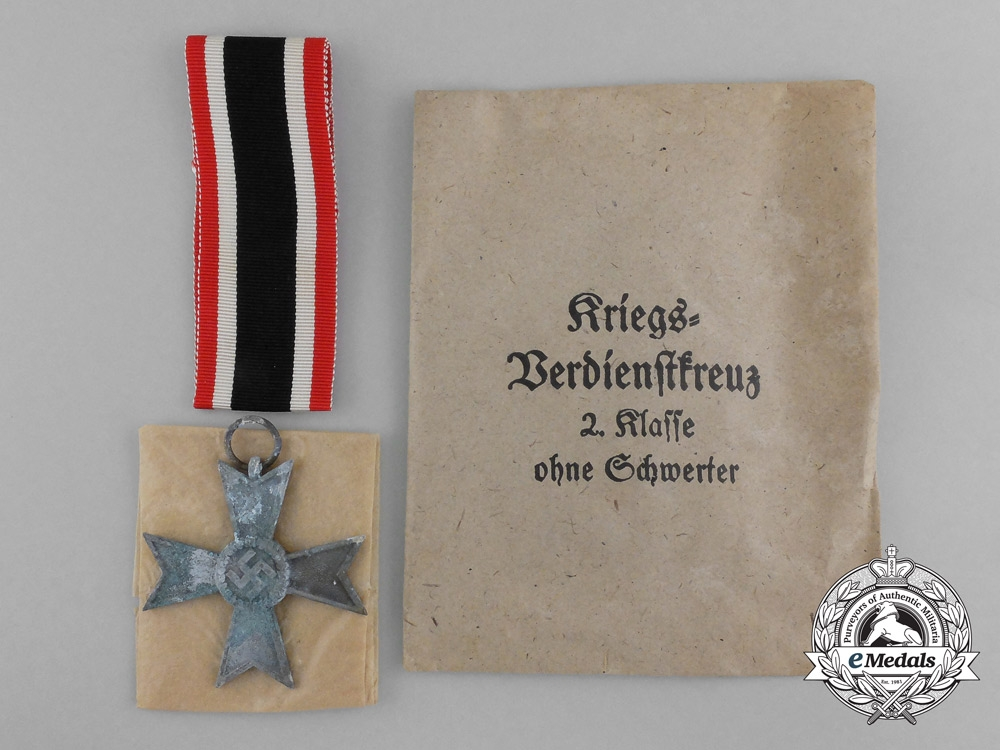 A War Merit Cross Second Class with Original Packet of Issue