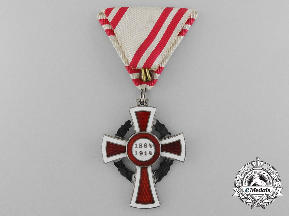 An Austrian Red Cross Honour Decoration in Case