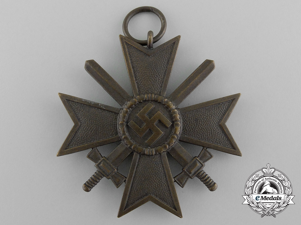 A Second Class War Merit Cross with Swords in original Packet of Issue by Friedrich Orth