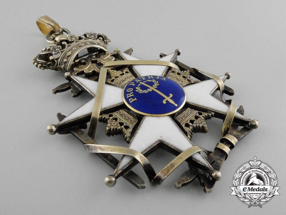 Sweden, Kingdom. An Order of the Sword, Commander's Cross