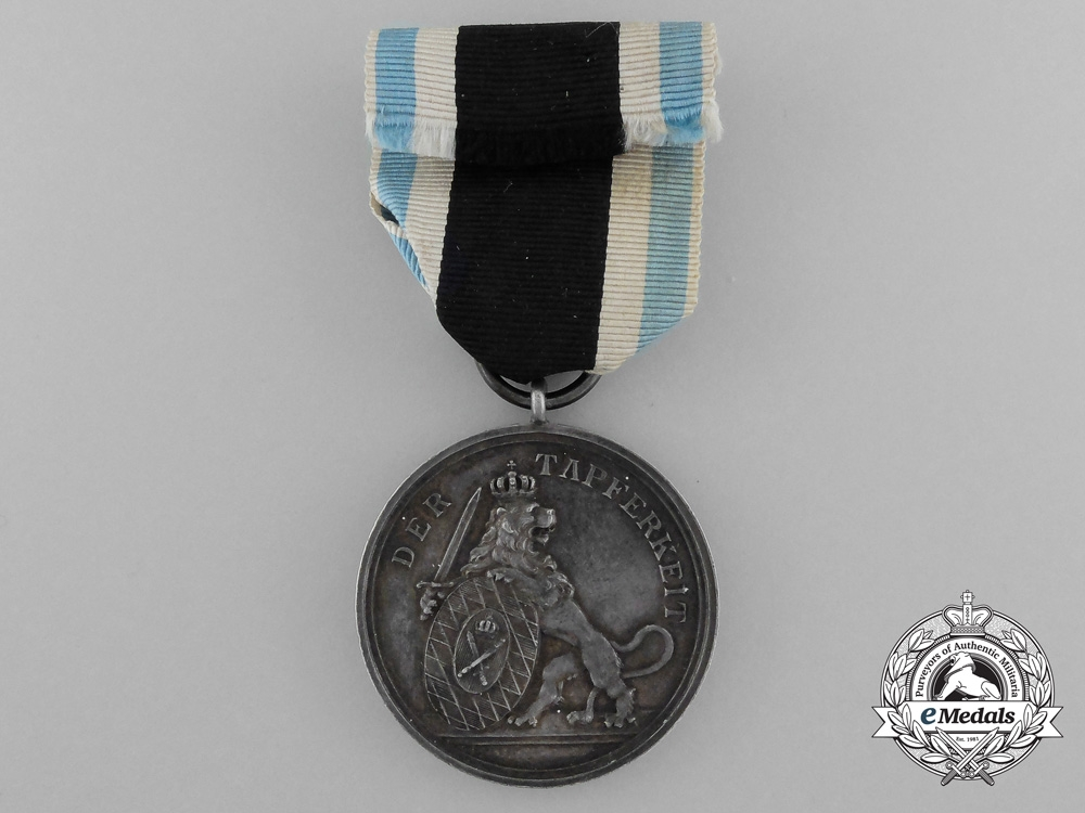 A Bavarian Military Merit Medal with Case Awarded to the 2nd Jäger Battalion; Alpenkorps